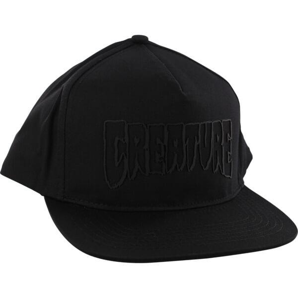 Creature Skateboards Logo Weld Black Hat - Adjustable