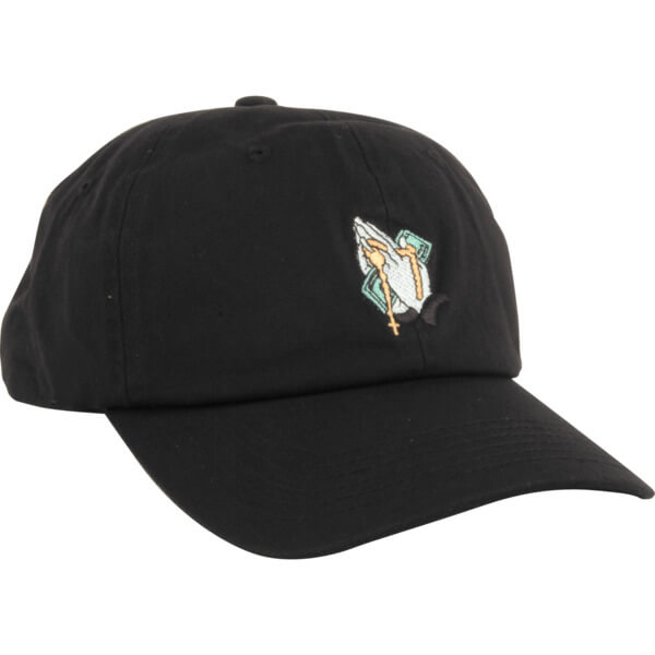 DGK Skateboards Blessed Black Strapback Hat - Adjustable