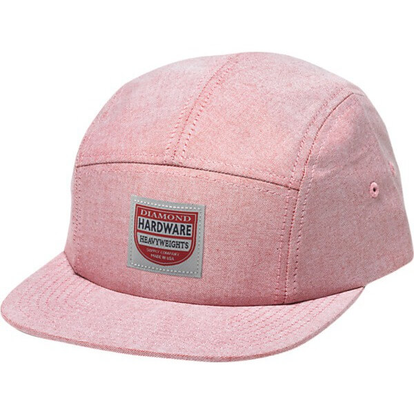 Diamond Supply Co The Port Red / White Chambray 5 Panel