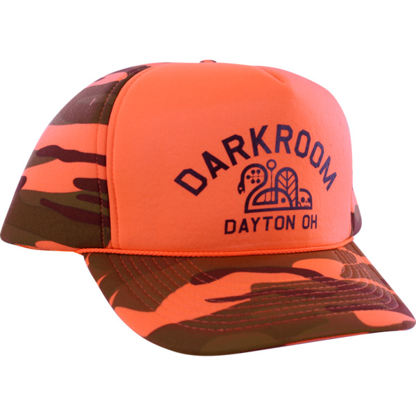 Darkroom Hunter Hat Orange Camo Hat - Adjustable