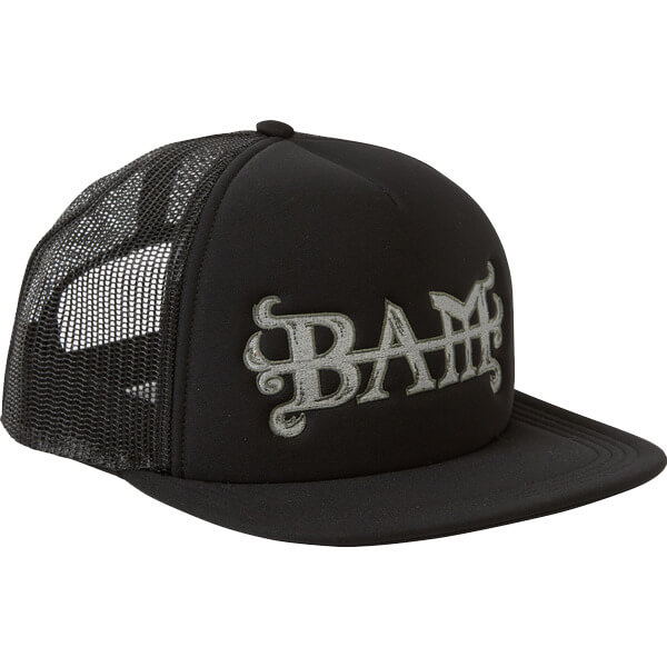 67641f804 Element Skateboards Bam Margera Flint Black Mesh Trucker Hat ...