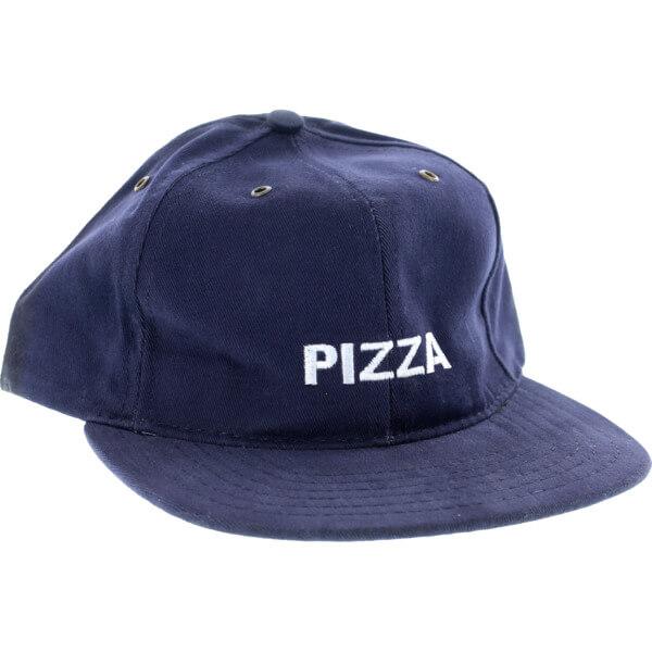 2842a67c286a9a Pizza Skateboards Logo Navy Snapback Hat - Adjustable - Warehouse  Skateboards
