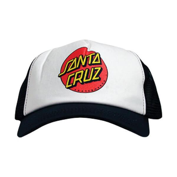 Santa Cruz Skateboards Classic Dot Black Mesh Trucker Hat - Adjustable