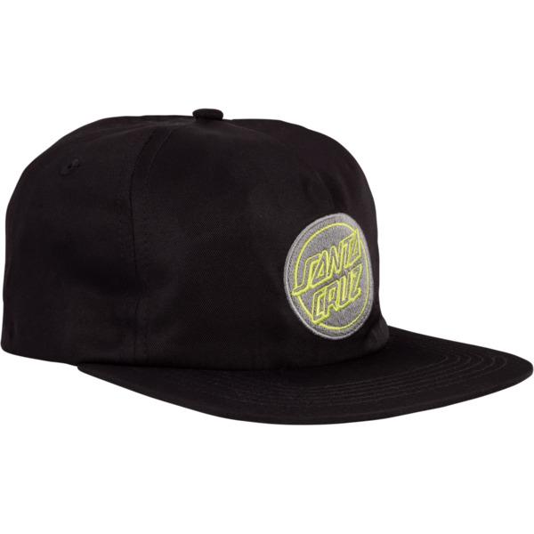 Santa Cruz Skateboards Reverse Dot Black Hat - Adjustable