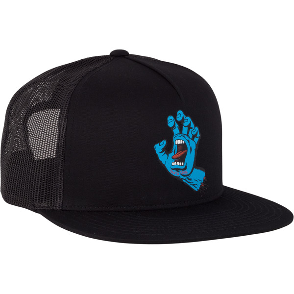 Santa Cruz Skateboards Screaming Hand Black Mesh Trucker Hat - Adjustable