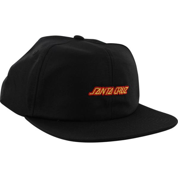Santa Cruz Skateboards Strip Black / Red Hat - Adjustable