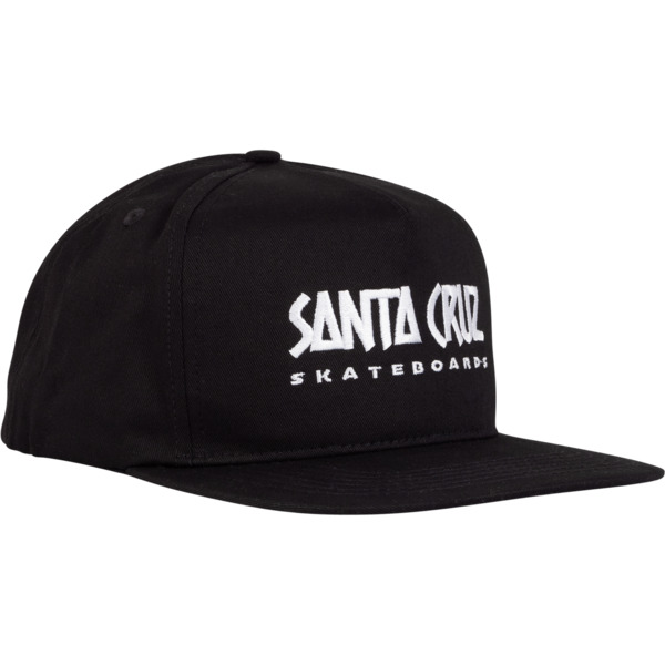 Santa Cruz Skateboards Valiant Black Hat - Adjustable