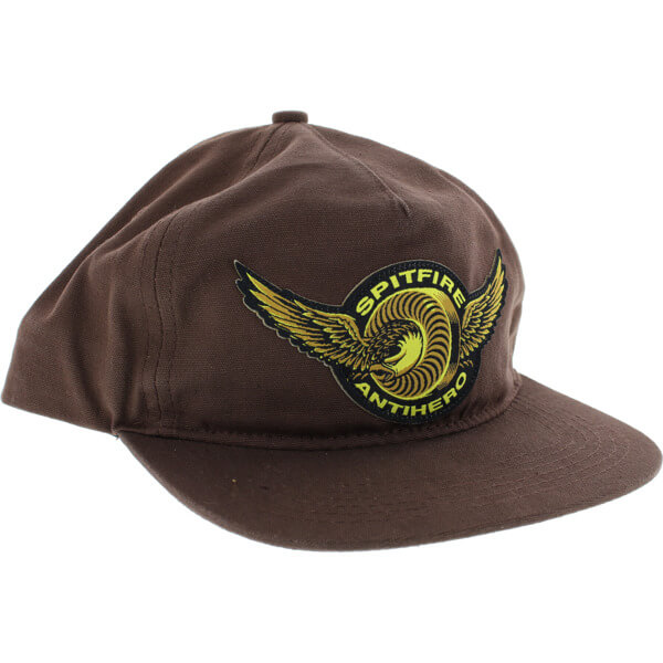 bad7b3ca9403 Spitfire Wheels x Anti Hero Classic Eagle Brown Hat - Adjustable -  Warehouse Skateboards
