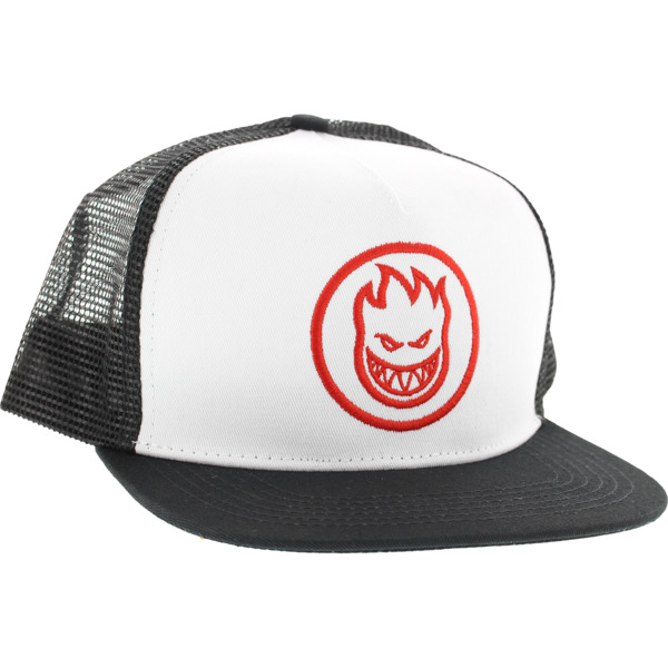 Spitfire Wheels Bighead Circle White / Black / Red Mesh Trucker Hat - Adjustable