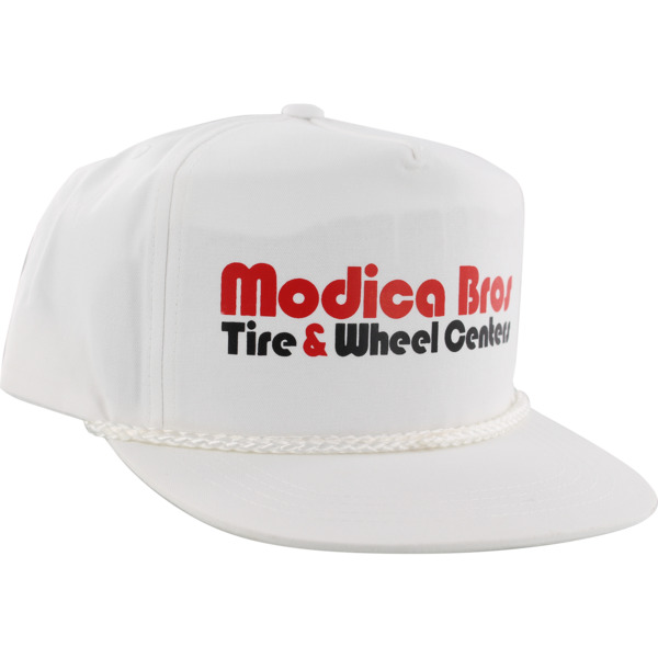 Send Help Skateboards Modica Bros Poplin White Hat - Adjustable