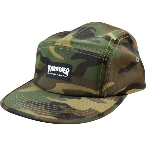 7ca30b115899 Thrasher Magazine Mag Logo Camo 5 Panel Hat - Adjustable - Warehouse  Skateboards