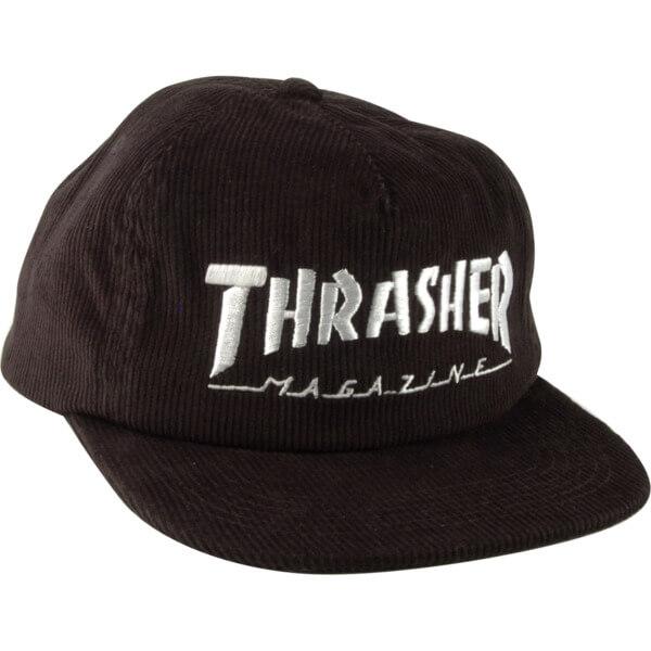 cca4b519b Thrasher Magazine Mag Logo Black Cord Snapback Hat - Adjustable ...
