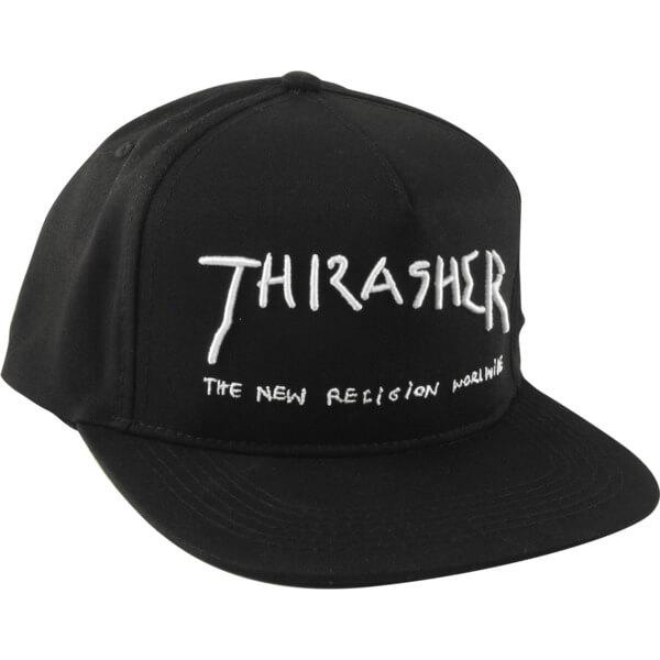 3eb7fb05e25 Thrasher Magazine New Religion Black Hat - Adjustable - Warehouse  Skateboards