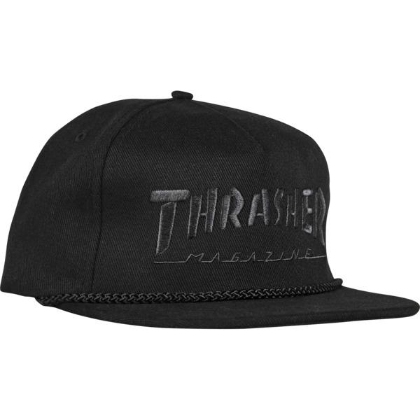 Thrasher Magazine Rope Black / Black Hat - Adjustable