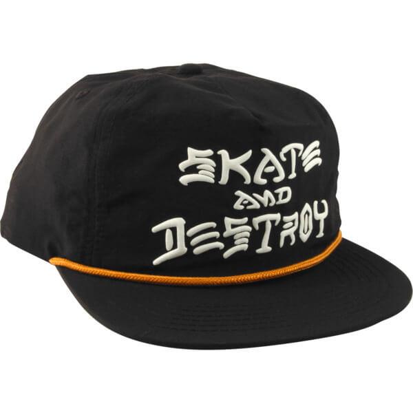 0db749b8437 Thrasher Magazine Skate and Destroy Puff Ink Black Hat - Adjustable -  Warehouse Skateboards