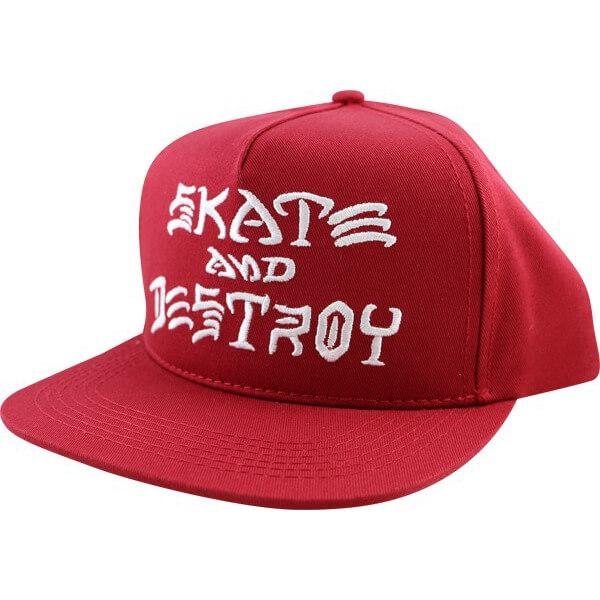 Thrasher Magazine Sk8 and Destroy Blood Red Hat - Adjustable