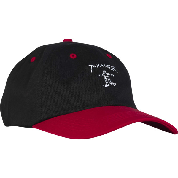 f03f6f52f6a Thrasher Magazine Mark Gonzales Old Timer Black   Red Hat - Adjustable -  Warehouse Skateboards