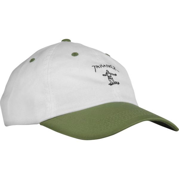 Thrasher Magazine Mark Gonzales Old Timer White / Olive Hat - Adjustable