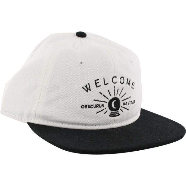 Welcome Skateboards Dark Energy White / Black Hat - Adjustable