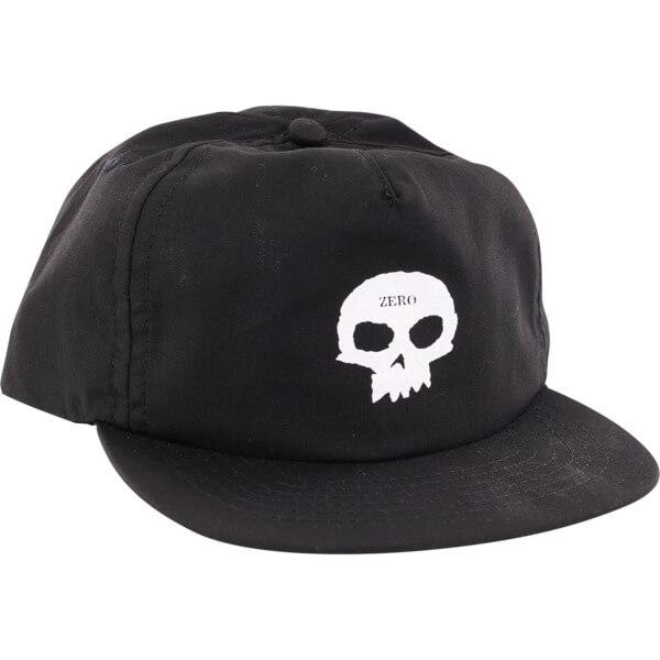 42a7dd6ce83 Zero Skateboards Skull Black   White Hat - Adjustable - Warehouse  Skateboards