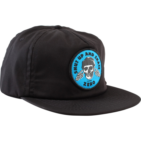 Zero Skateboards Shut Up & Skate Black / Blue Hat - Adjustable