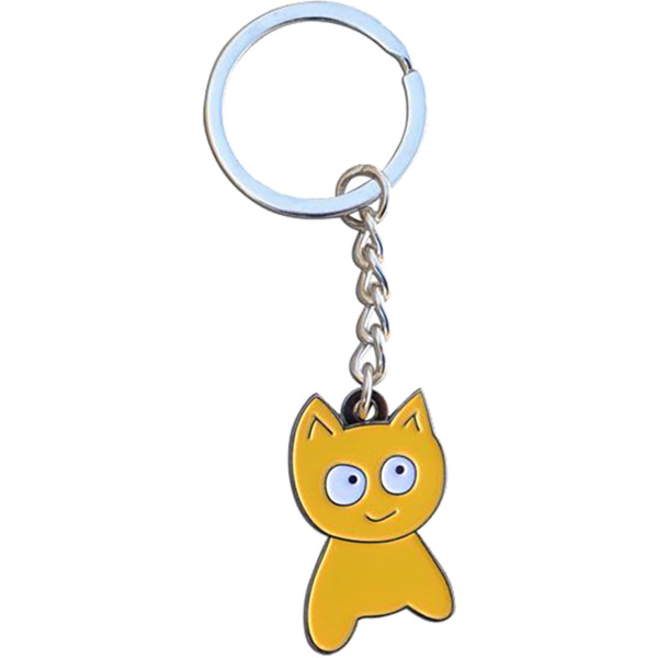 Meow Skateboards Cat Keychain