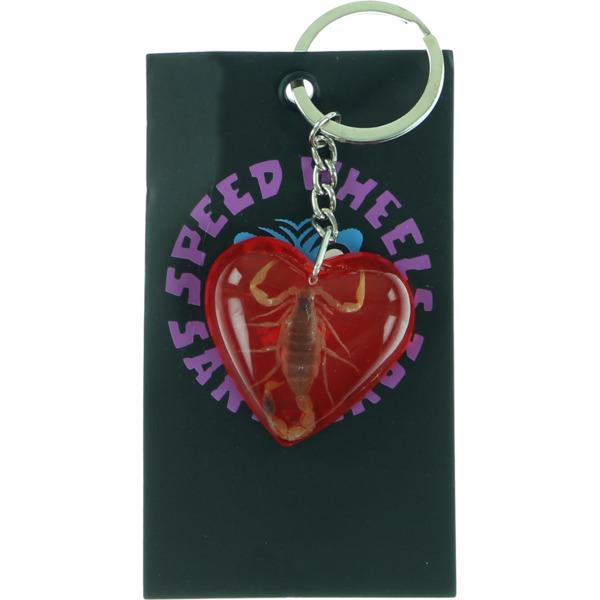 Santa Cruz Skateboards Poision Heart Red Keychain
