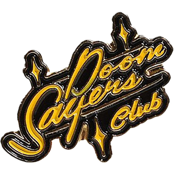 Doomsayers Club Sacto Script Black / Yellow Pin