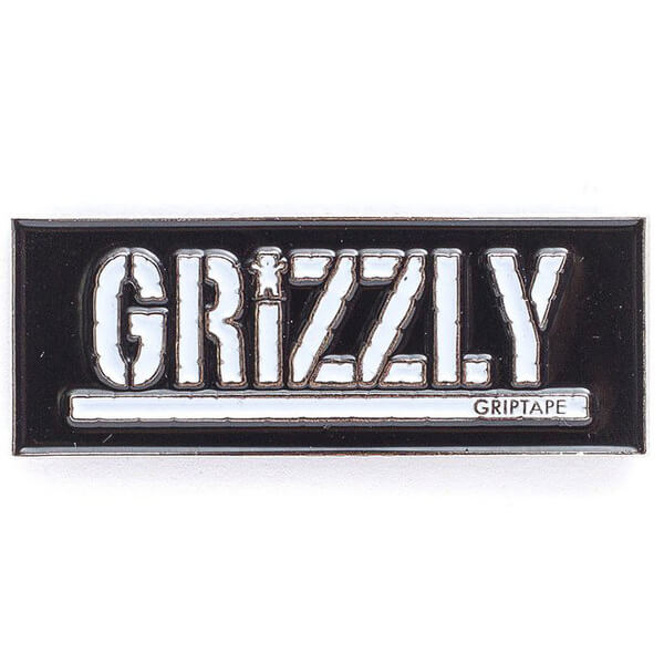 Grizzly Grip Tape Box Logo Pin Warehouse Skateboards