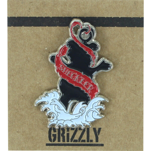 Grizzly Grip Tape Sheckler Inked Lapel Pin