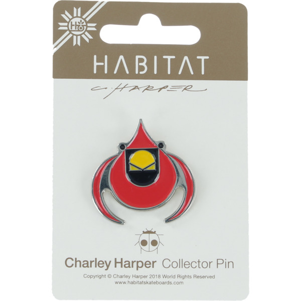 Habitat Skateboards Charley Harper Cardinal Lapel Pin