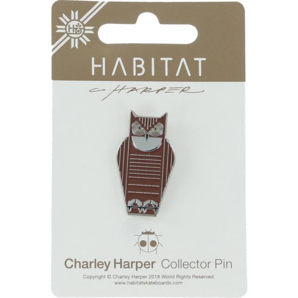Habitat Skateboards Charley Harper Great Horned Owl Lapel Pin