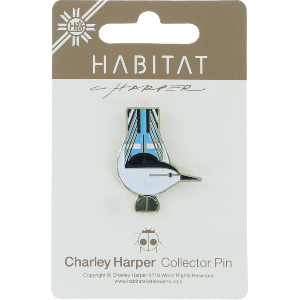 Habitat Skateboards Charley Harper Nuthatch Lapel Pin