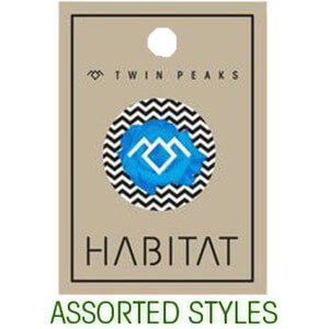 Habitat Skateboards One Assorted Style Twin Peaks Button