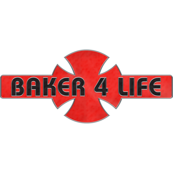Independent Baker 4 Life Red / Black Lapel Pin