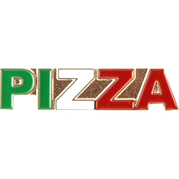 Pizza Skateboards Tri Color Lapel Pin