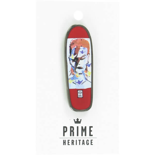 "Prime Heritage Gonz Jason Lee Bowie Board Red 2"" Enamel Collectible Lapel Pin"