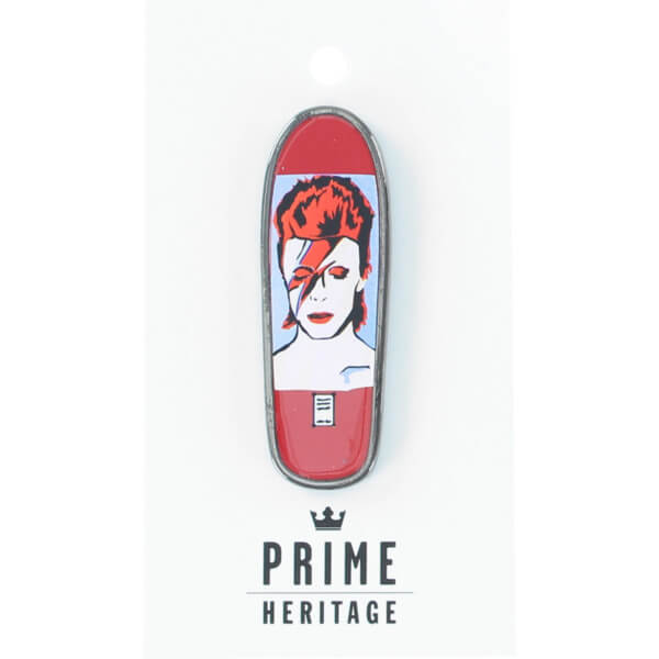 "Prime Heritage Jason Lee Bowie Red 2"" Board Lapel Pin"