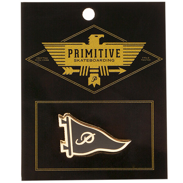 Primitive Skateboarding Pennant Black / Gold Lapel Pin