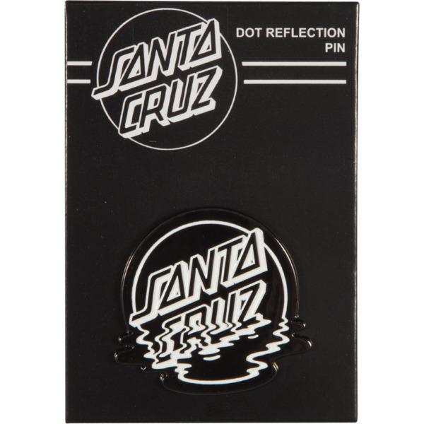 Santa Cruz Skateboards Dot Reflection Black / White Lapel Pin