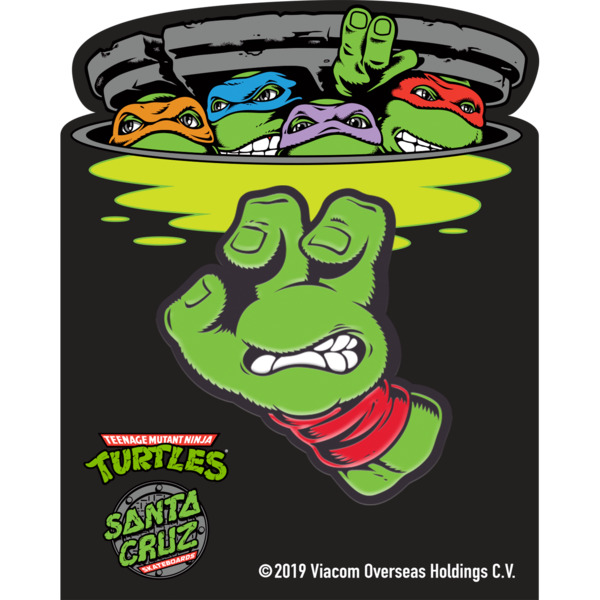 Santa Cruz Skateboards TMNT Turtle Hand Lapel Pin