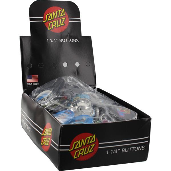 "Santa Cruz Skateboards 120 Piece 1.25"" Assorted Button Box Set"