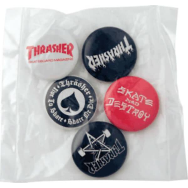 Thrasher Magazine Button & Pin Pack - 5 Piece