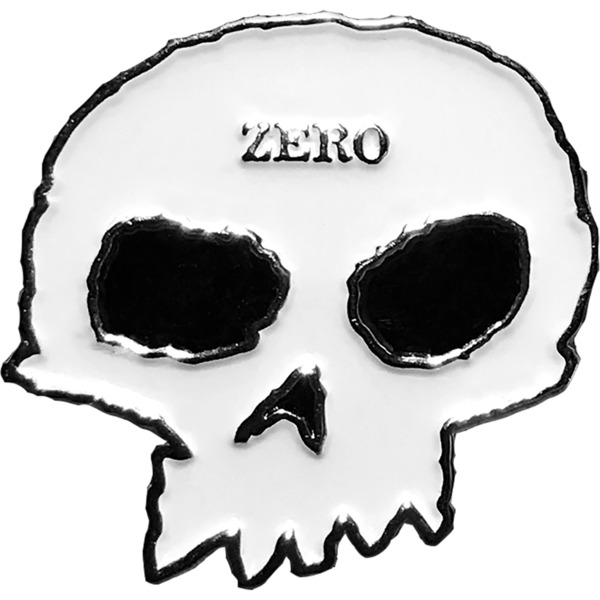 Zero Skateboards Skull White / Black Lapel Pin