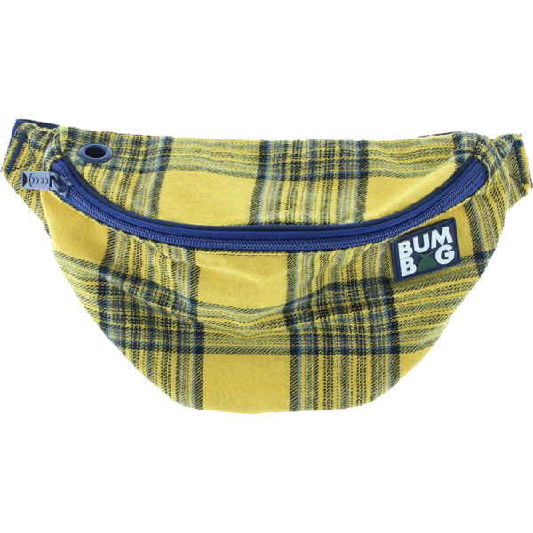 Bumbag Basic Flanders Yellow / Blue Plaid Fanny Pack - One Size Fits All