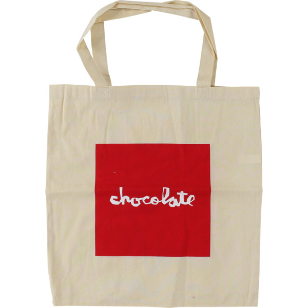 Chocolate Skateboards Red Squre Natural Tote Bag - One Size Fits All