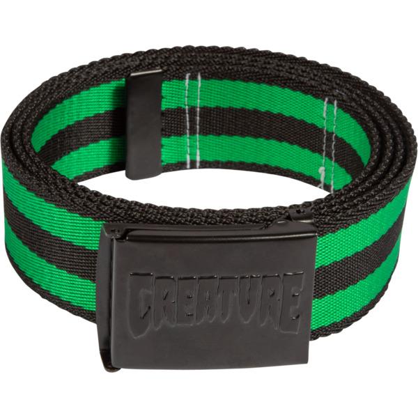 Creature Skateboards Logo Stamp Black / Green Web Belt