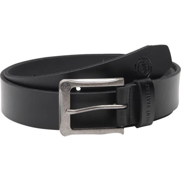 Element Skateboards Paloma Black Leather Belt - Small / Medium