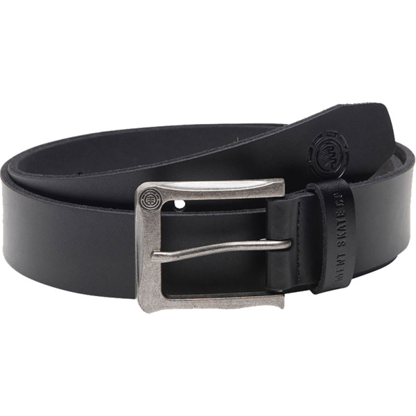 Element Skateboards Poloma Black Leather Belt - Large / X-Large