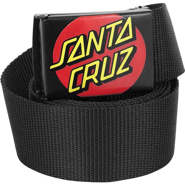 Santa Cruz Skateboards Classic Dot Black Web Belt - Adjustable
